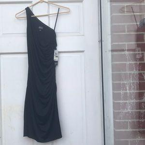 NWT Adrianna Papell Evening Blk 1 Shoulder Dress 4